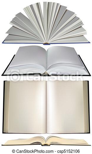 Establezca un libro abierto - csp5152106