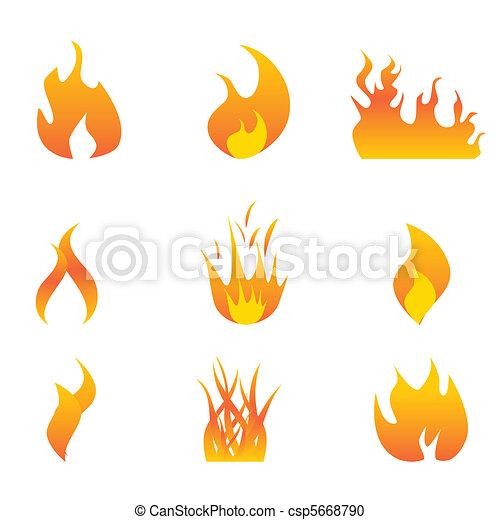 Un icono de llamas - csp5668790