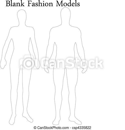 Un conjunto de modelos masculinos y femeninos en blanco - csp4335822