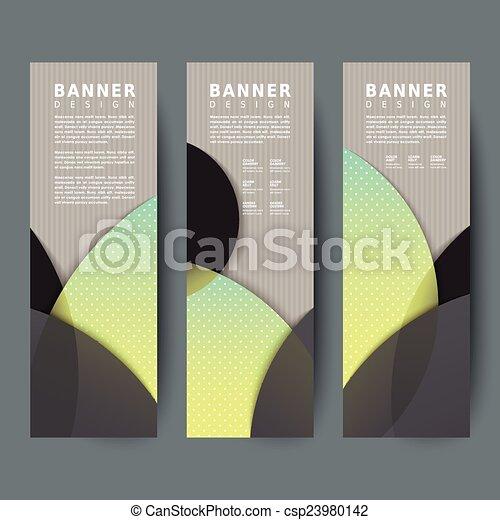 Diseño de estandartes modernos - csp23980142