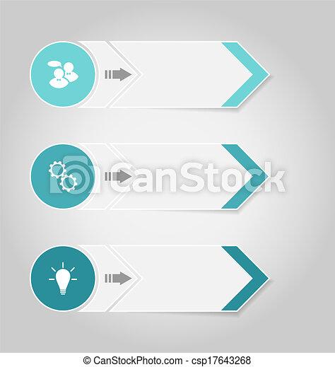 Establece estandartes de diseño modernos con elementos infográficos - csp17643268