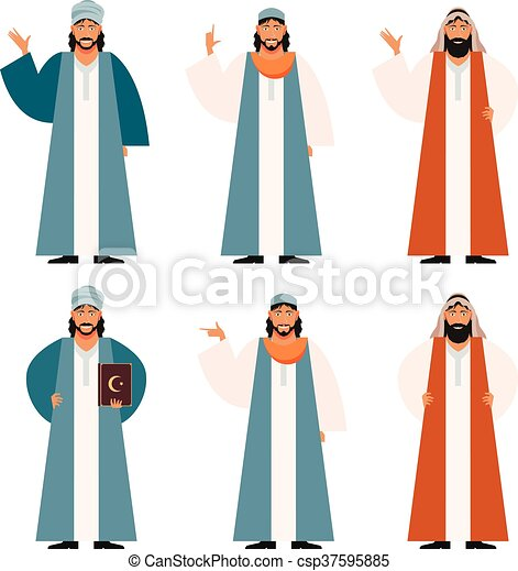 Set de muslims2 - csp37595885