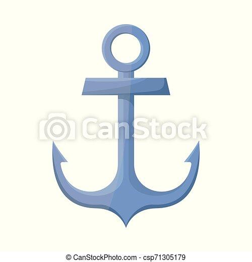 Objeto aislado de ancla y icono naval. Lectura de anclaje y ilustración de vectores marítimos. - csp71305179