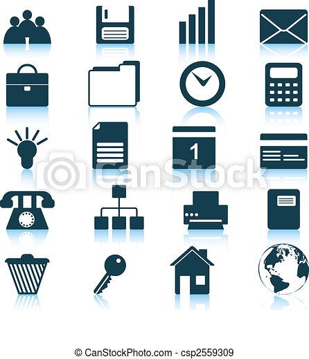 Los iconos de negocios y oficinas están listos - csp2559309