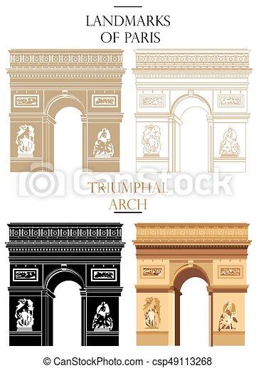 Arco del vector Triumphal (Marca de París) - csp49113268
