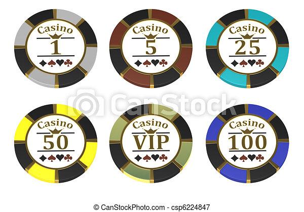 Un juego de fichas para un casino - csp6224847