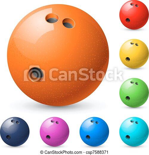 Un juego de bolas de boliche - csp7588371