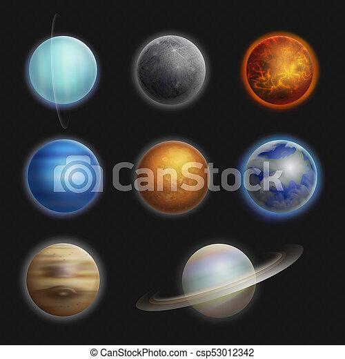 Los Planetas Del Sistema Solar Realistas Establecieron Una