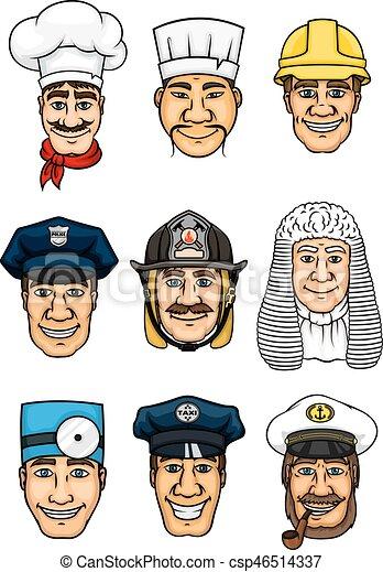 Profesiones de dibujos animados para el diseño de ocupación - csp46514337