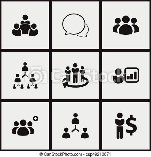 9 Iconos De Cooperación Editables Incluye Símbolos Como