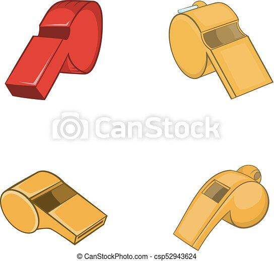 Un juego de iconos, estilo de dibujos animados - csp52943624