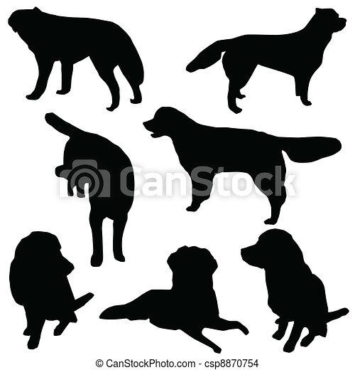 Un grupo de perros aislados - csp8870754