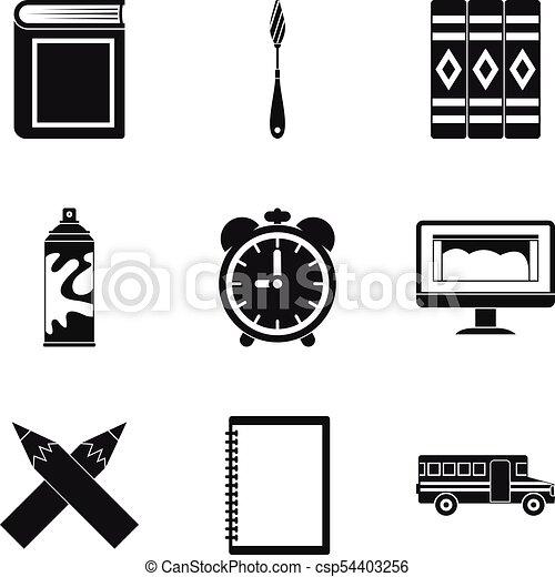 Realice iconos establecidos, estilo simple - csp54403256