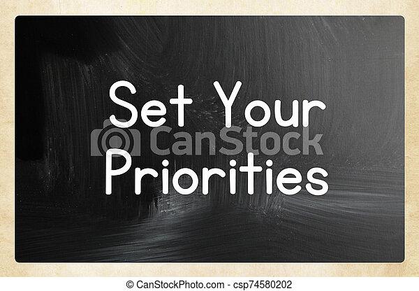 conjunto, su, priorities - csp74580202