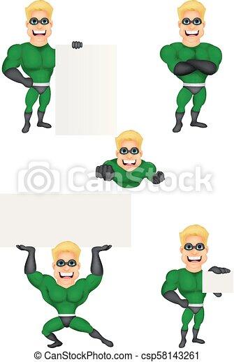 Coleccion de superhéroes de dibujos animados - csp58143261
