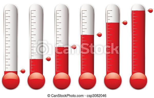 El termómetro está listo - csp3082046