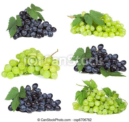 conjunto, uva - csp6706762