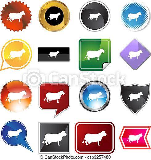 Cow icon set - csp3257480