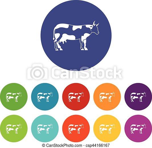 iconos de vacas - csp44166167
