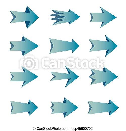 Un juego de flechas - csp45600702