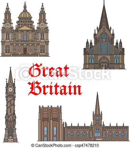 Un hito británico de arquitectura - csp47478210
