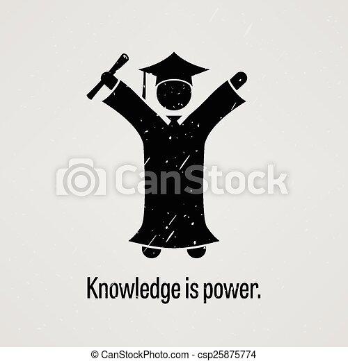 connaissance, puissance - csp25875774