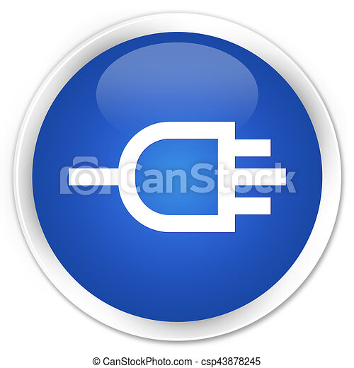 Connect icon premium blue round button - csp43878245