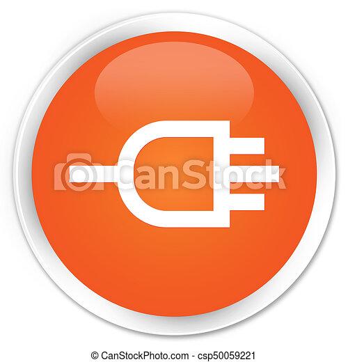 Connect icon premium orange round button - csp50059221