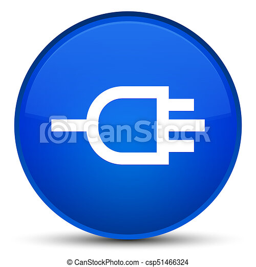 Connect icon special blue round button - csp51466324