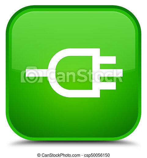 Connect icon special green square button - csp50056150