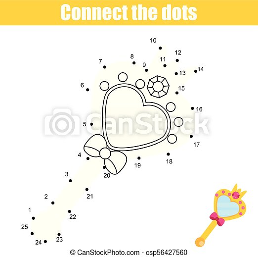 graphic regarding Free Printable Mirrored Numbers identified as Talk the dots via quantities little ones enlightening activity. Printable worksheet match. Princess reflect