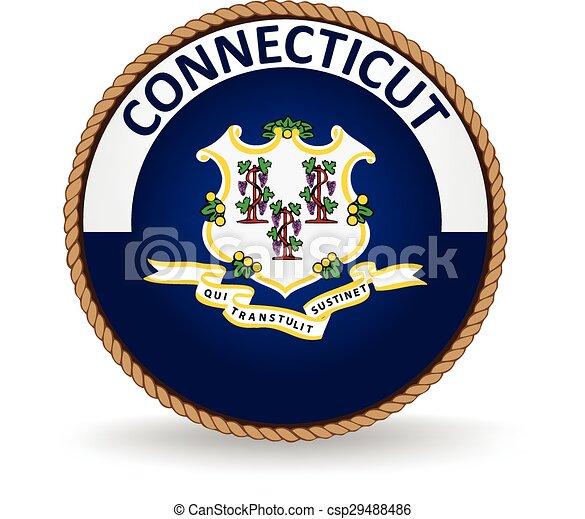 El sello estatal de Connecticut - csp29488486