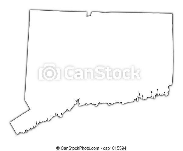 Drawing Of Connecticut USA Map ConnecticutUSA Outline Map - Map of usa connecticut