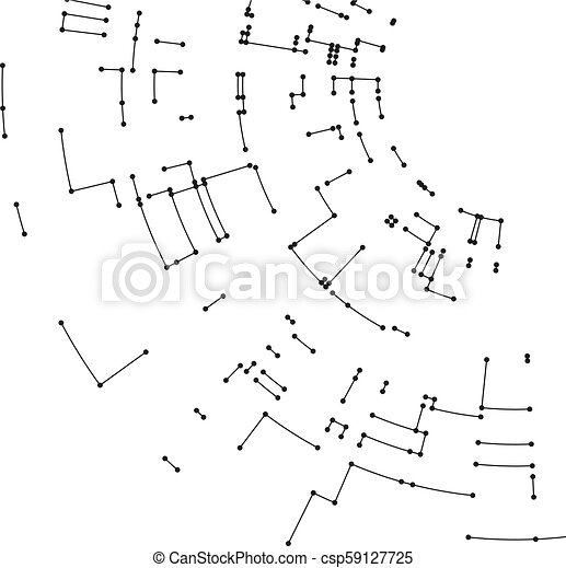 Connecting Lines And Dots On White Background Abstract Network