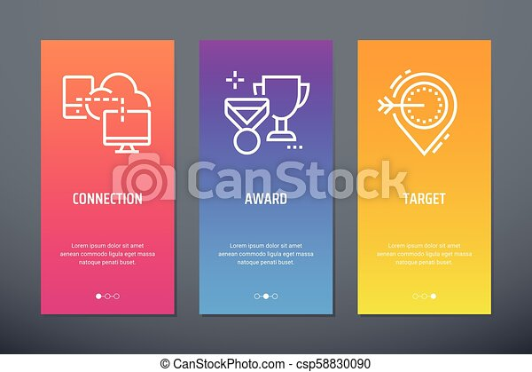 connection award target vertical cards with strong metaphors rh canstockphoto com Small Business Clip Art Small Business Clip Art