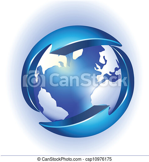 Connection to world logo vector - csp10976175