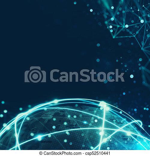 connexion globale, concept, réseau, internet - csp52510441