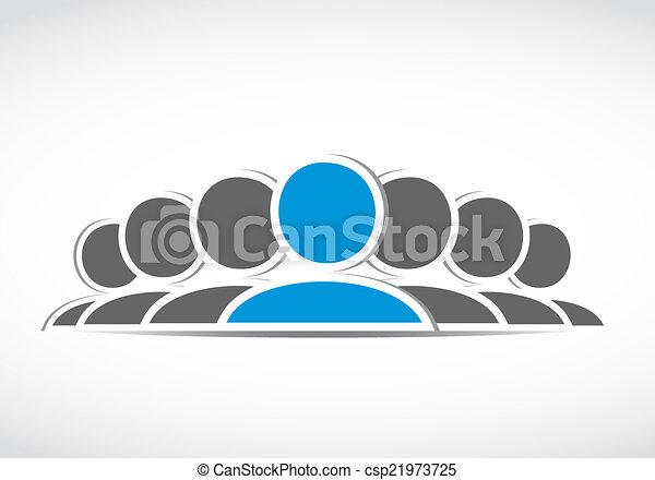 connexion, social, equipe affaires - csp21973725