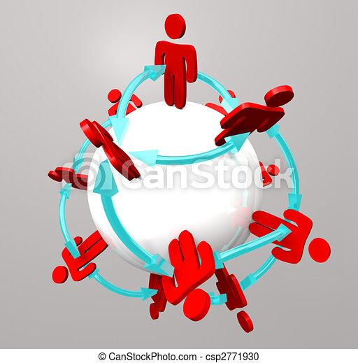 connexions, gens, -, réseau, social - csp2771930
