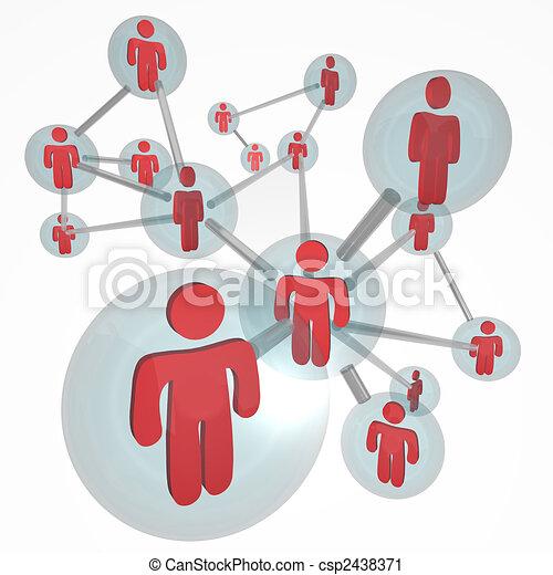 connexions, molécule, -, réseau, social - csp2438371