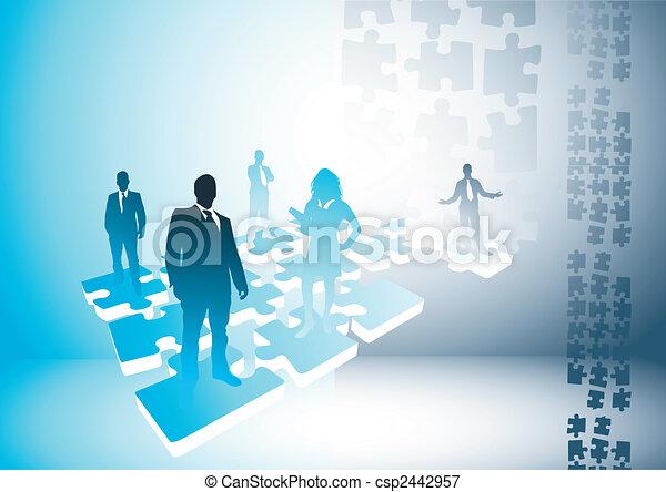 connexions, puzzle, gens - csp2442957