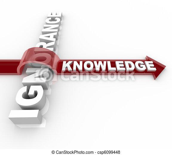 La ignorancia contra el conocimiento - la educación gana - csp6099448