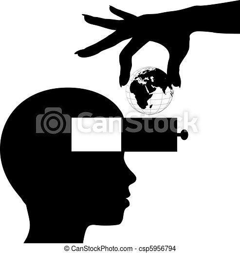 La mente estudiantil aprende educación del conocimiento mundial - csp5956794