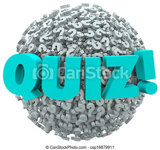 conoscenza, valutare, domanda, quiz, contrassegni, prova - csp16879911