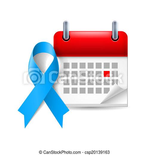 conscience, calendrier, ruban, bleu - csp20139163