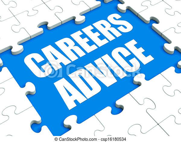 Los consejos de carrera muestran consejos de orientación laboral y asistencia - csp16180534