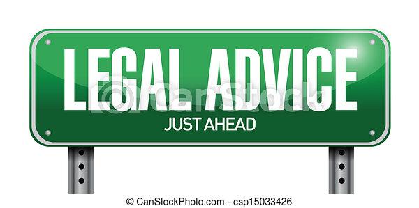 Los consejos legales indican diseño de ilustración - csp15033426