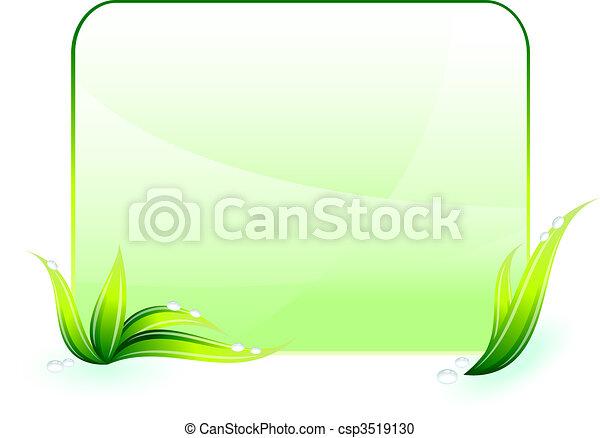 conservación ambiental, fondo verde - csp3519130
