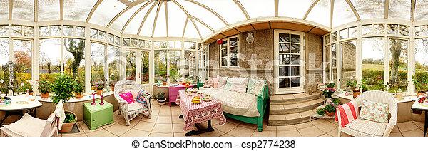 consevatory interior panoramic - csp2774238