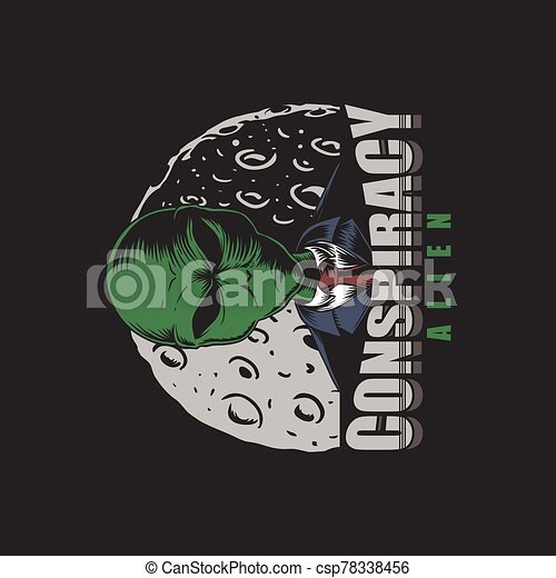 Conspiracy Alien vector illustration - csp78338456